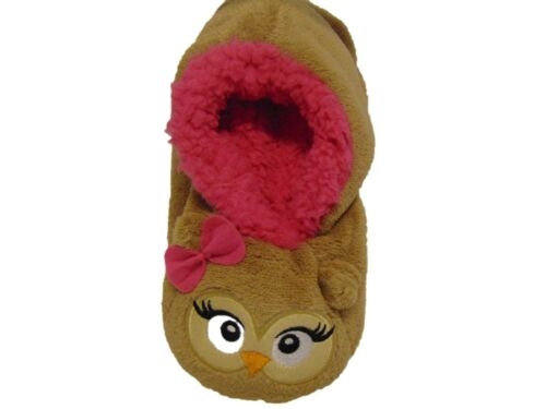 Girls Novelty Animal design Gripper sole Cosy Slippers 2 sizes 6 designs