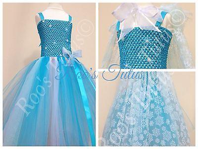 Elsa dress (Frozen inspired) tutu dress costume (handmade). Princess fancy dress