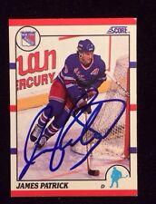 JAMES PATRICK  1990 1991 SCORE Autographed Signed HOCKEY Card JSA 194 RANGERS