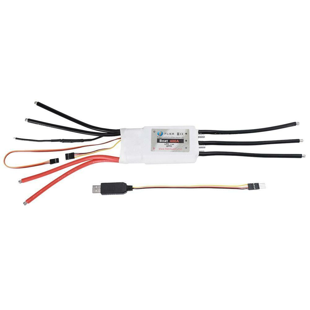 400A Brushless Two-way Two-way Two-way Water-cooled ESC Applicable Voltage 8-70V for RC Boat f1472e