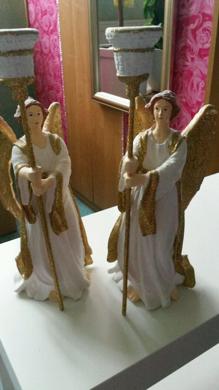 Engel Engel Engel Weihnachtsengel Kerzenständer 2 er Set 23dbb6