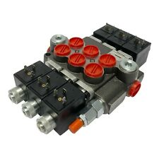 3 Spool Solenoid 12v Dc Hydraulic Control Valve Double Acting 13 Gpm 3600 Psi