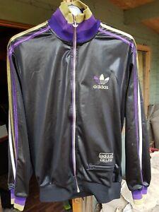 Details about Adidas Chile 62'tracksuit jacket| M | Wetlook shiny Black purplegoldsilver