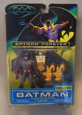 Vintage 90s Kenner Action Figur DELUXE ATTACK WING BATMAN Forever 1995 OVP