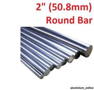 "lengths 100mm to 2500mm 2.5m 50.8mm ALUMINIUM ROUND BAR 2/"""