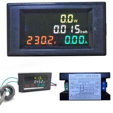LCD Digital Voltmeter AC 80-300V 100A CT Ammeter Volt Amp Power Kwh Panel Meter