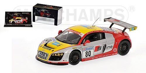 Audi r8 LMS stuc Biela droife Nurburgring 2009 1 43 Model MINICHAMPS