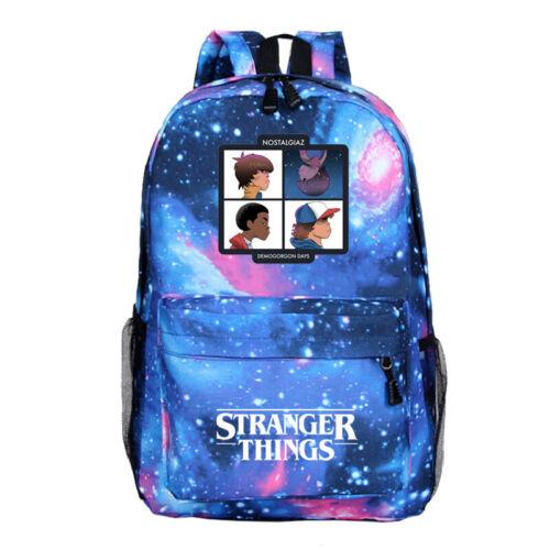 Stranger Things 3 School Bag Galaxy Backpack Student Laptop Rucksack Kids Gift