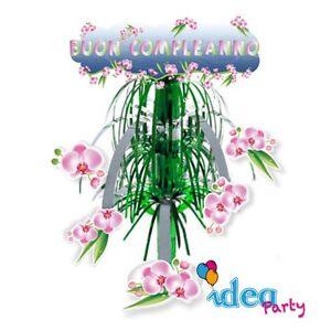 Dettagli Su Centrotavola Augurale Orchidee Buon Compleanno Festa Party Addobbi Generici