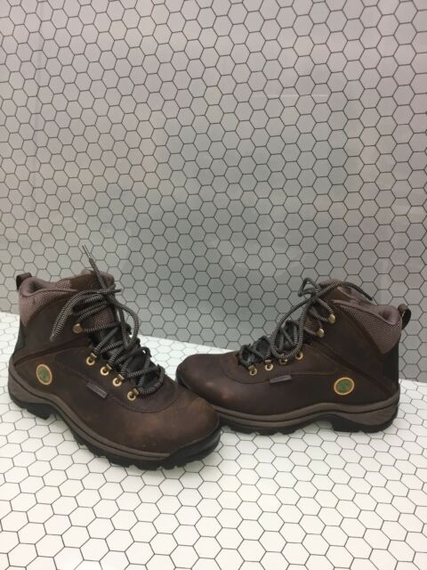 Timberland White Ledge Mid Brown Leather Waterproof Hiking Boots Men's Size 8.5M