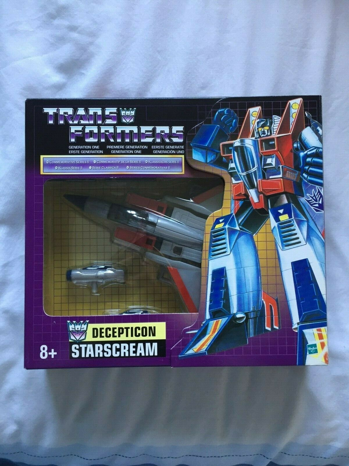 Transformers G1 Commemorative Starscream MIB Brand New