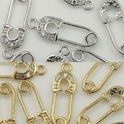 Elephant Heart Pendants Charms Necklace Earrings Bracelets 16K gold Silver #19