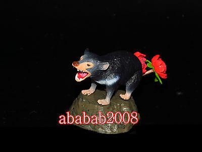 Bandai Nature Zone animal gashapon figure - Tasmanian devil ( one figure ) Rare