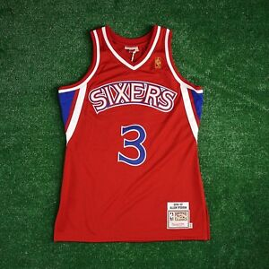 Image is loading 1996-97-Allen-Iverson-Philadelphia-76ers-MITCHELL-amp- acaf628c3