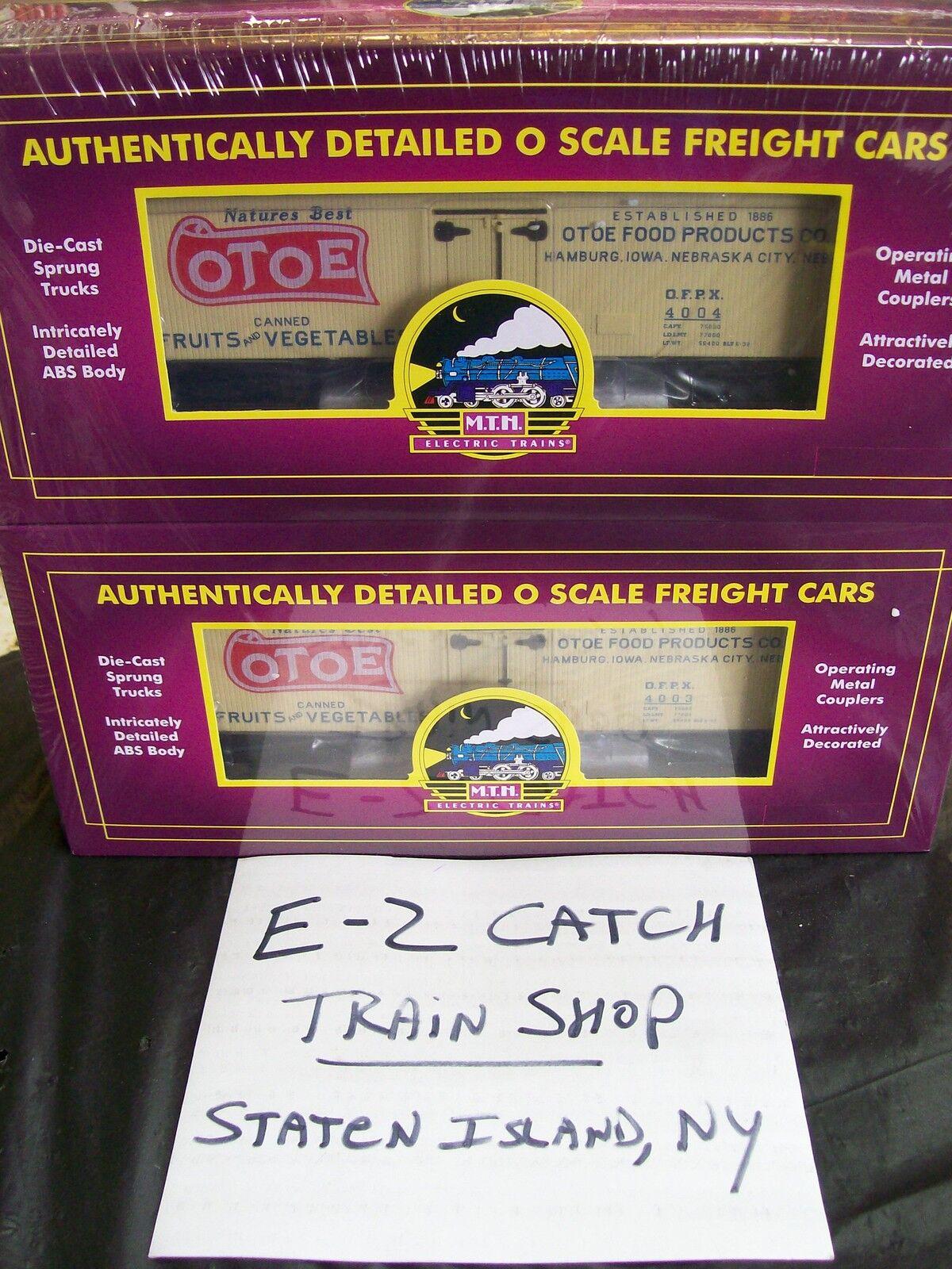 Otoe productos alimenticios 36' woodsided Reefer Cars O Escala dos Pack  4003 & 4004 Nuevo