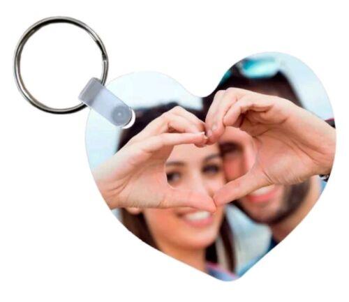Portachiavi a forma di cuore personalizzabile con foto a stampa sublimatica in