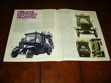 1926 ELECTRIC CAR  EV TRUCK MILAN ITALY HEARSE   ***ORIGINAL 1971 ARTICLE***