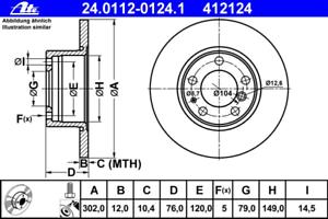 Bremsscheibe 2 Stück ATE 24.0112-0124.1