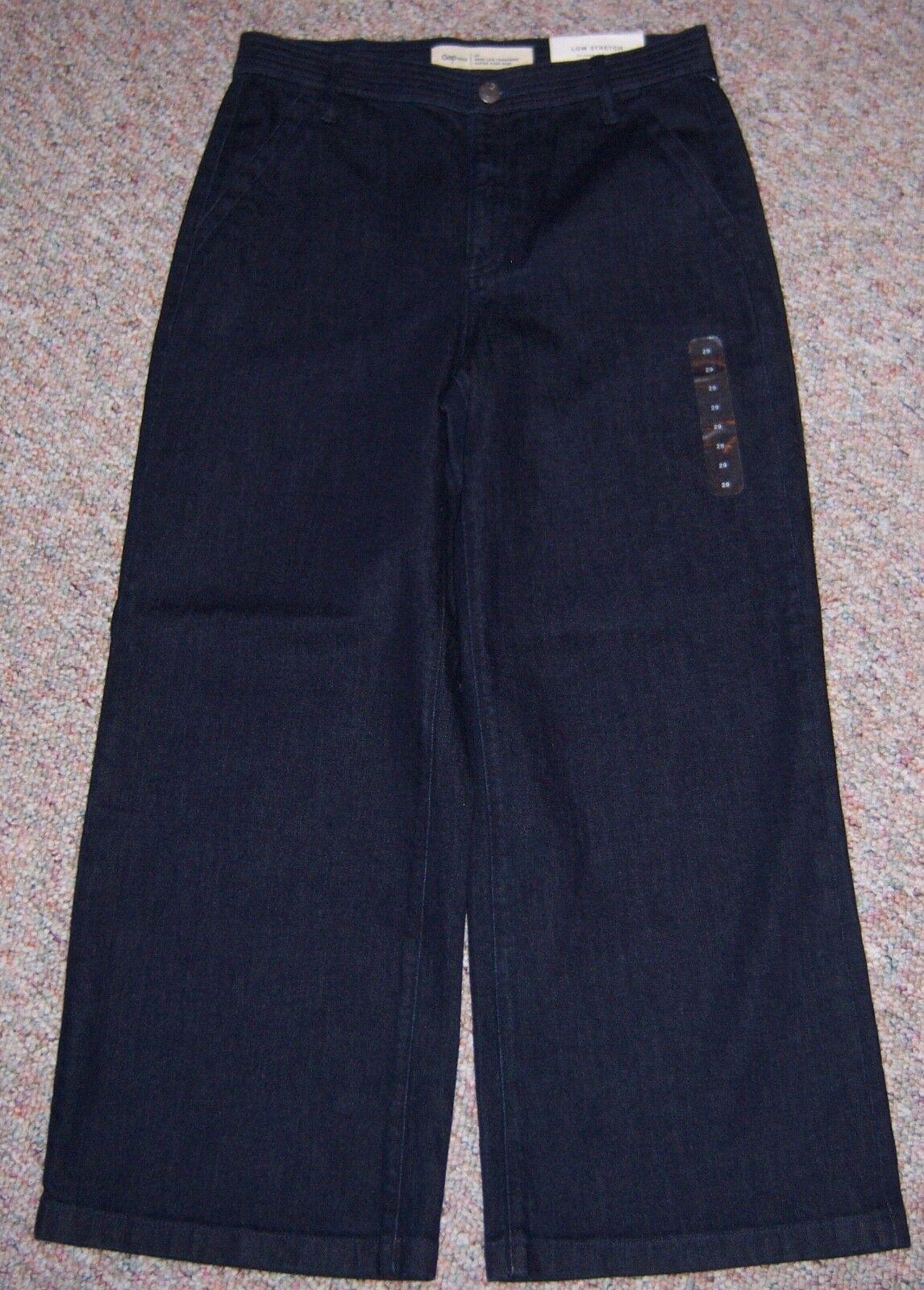 GAP bluee Dark Rinse Denim Super High Rise Wide Leg Trouser Jeans Sz 29 or 8 NWT