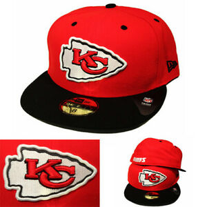 New-Era-NFL-Kansas-City-Chiefs-5950-Fitted-Hat-Black-Official-Game-2-Tone-Color