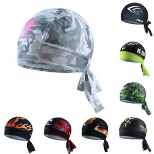 Men s Bandana Sports Head Scarf Cap Bicycle Pirate Scarf Hat Cycling ... 801ab6488666