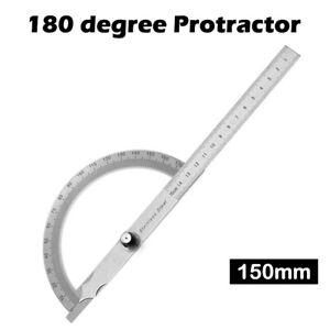 180-Grad-Winkelmesser-Finder-Edelstahl-Dreh-Winkel-Lineal-Messwerkzeug