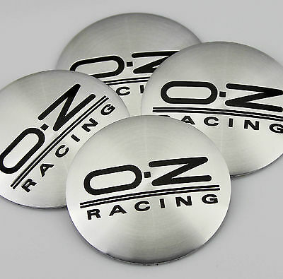 "4x 56mm 2.2"" Auto Car Wheel Center Hub Cap Emblem Sticker for O.Z Racing sports"