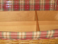 Longaberger~ Orchard Park Plaid Fabric Liner (ONLY) for Large Desktop Basket NIP