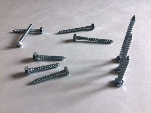 M6 6mm COACHSCREWS ZINC PLATED LAG BOLTS HEXAGON HEAD WOODSCREWS COACH BOLT