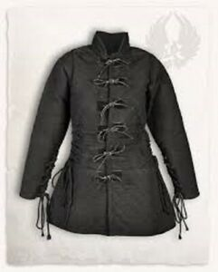 Medieval thick padded Black Gambeson Halloween gift