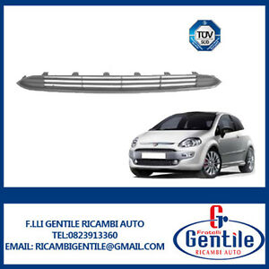 FIAT-PUNTO-EVO-dal-2009-al-2012-Griglia-paraurti-anteriore-centrale-METAL-DARK