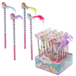 Unicorn-Pencil-with-Eraser-Topper-School-Stationary-Party-Bag-Stocking-Filler