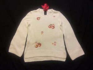 Disney-039-s-Snow-White-Collection-by-LC-Lauren-Conrad-Apple-Boatneck-Sweater-Size-S