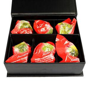 6er-BOX-teekugeln-Te-Bianco-erbluhtee-teegeschenk-per-i-bevitori-di-te-te