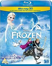 FROZEN 3D [Blu-ray + Blu-ray 3D] Disney Movie 3D + 2D Combo Pack Set