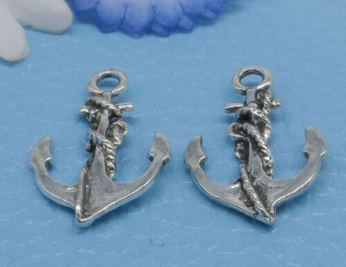 Free Ship 14pcs Tibetan Silver Anchor Charms Pendentif Pour Bijoux Making Craft