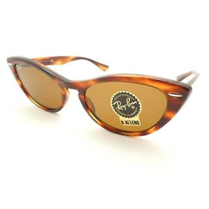 Ray Ban 4314 N Nina 954 33 Stripped Brown B15 Sunglasses New ... e7293d9c32e