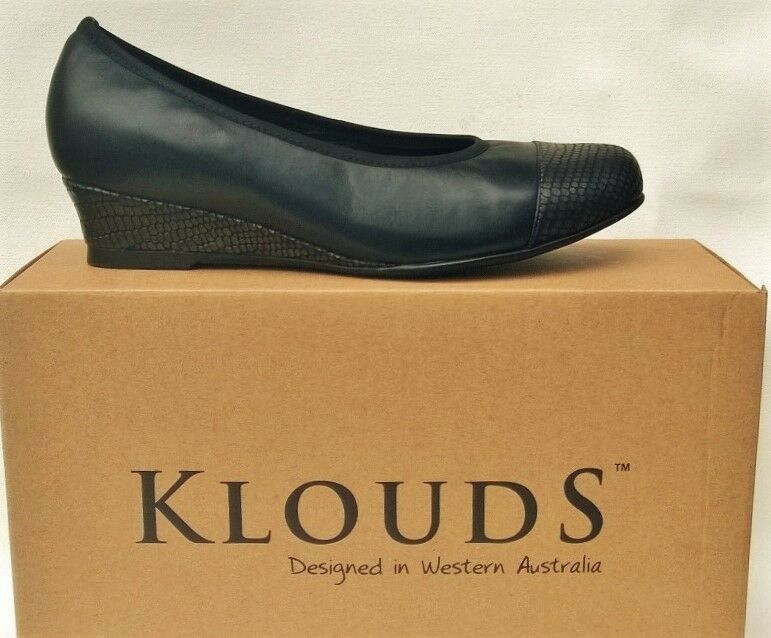 Klouds shoes - Orthotic friendly comfort leather Wedges Sangria