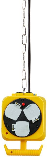Brennenstuhl 2x 3-way hanging workshop energy cube for large tools (5m extens...