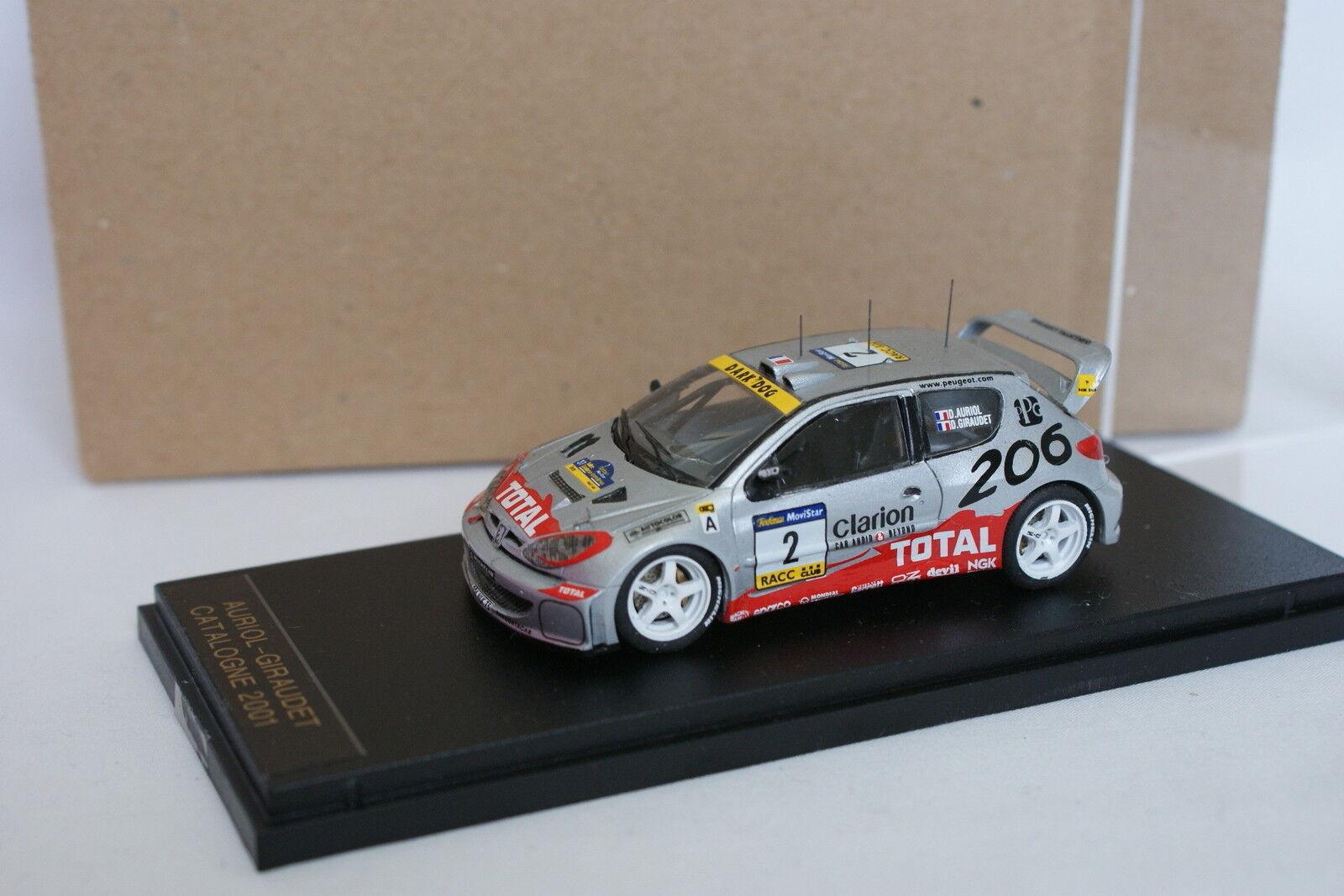 Provence Moulage Kit Monté 1 43 - Peugeot 206 WRC Rallye Catalogne 2001 N°2