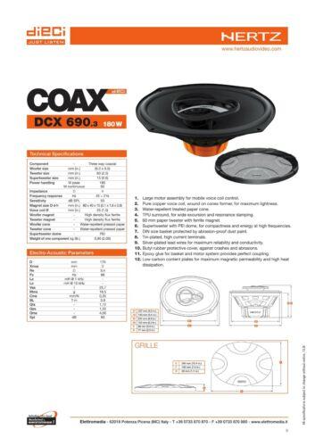 Hertz DCX 690.3 Coppia Casse Altoparlanti Ovali 3 vie 180W per JEEP Renegade