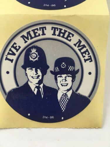Metropolitan Police I've Met The Met Stickers