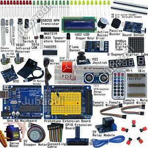 Ultimate UNO R3 Starter Kit for Arduino 1602lcd Servo Ultrasonic Processing