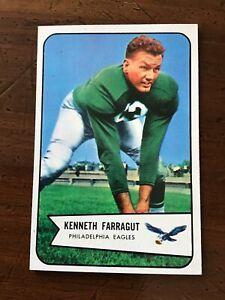1954-BOWMAN-ROOKIE-FOOTBALL-card-87-KENNETH-FARRAGUT-PHILADELPHIA-EAGLES