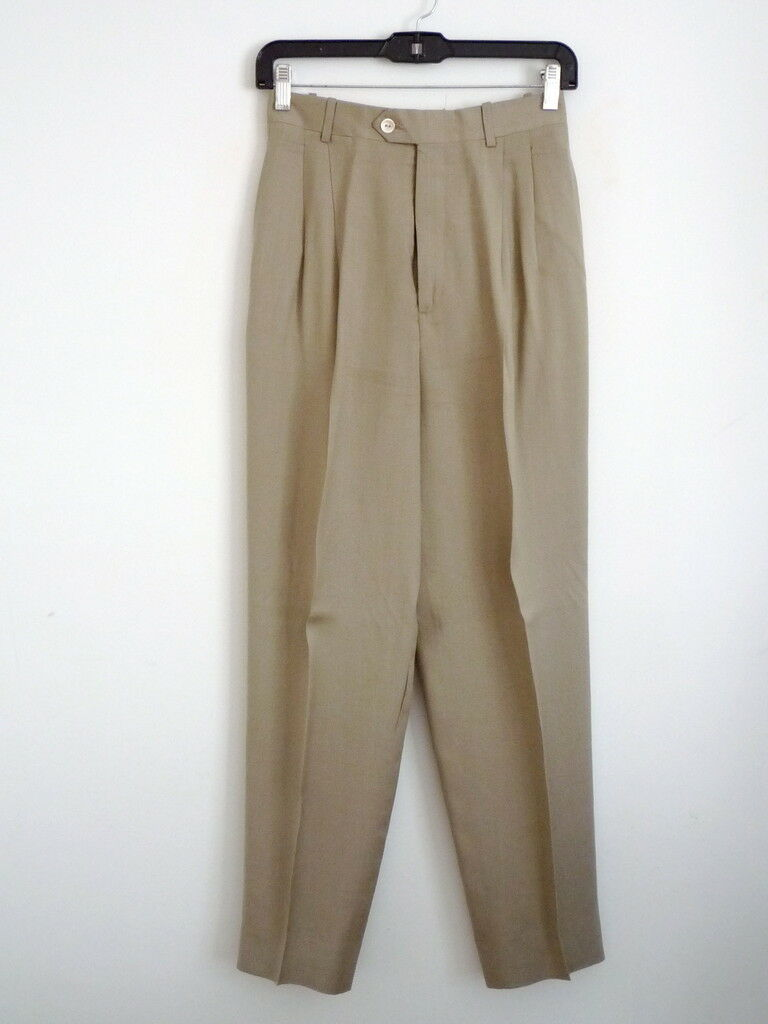 NWOT Barry Bricken Linen Trouser Career Pants -4