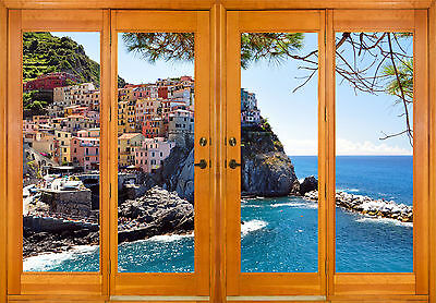 Stickers fenêtre trompe l/'oeil Jardin réf 2544 10 dimensions