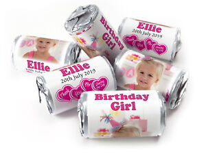 Personalised-Love-Heart-Sweets-for-Birthday-Girl-favours-Silver-Foils-With-Image