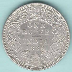 BRITISH INDIA 1889 VICTORIA EMPRESS SILVER RUPEE