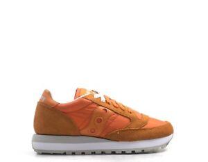Caricamento dell immagine in corso Scarpe-SAUCONY -Donna-Sneakers-ARANCIONE-Scamosciato-Tessuto-S1044- 97fa3236bc3