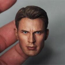 US 1//12 Captain America Head Carved Steve Rogers Model Fit 6/'/' SHF Action Figure
